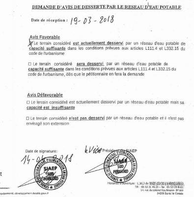 certificate durbanisme screen shot
