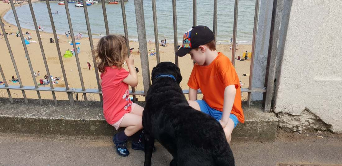 Chloe, Henry and Luka at the seaside