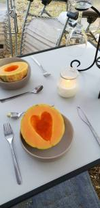 Heart in melon
