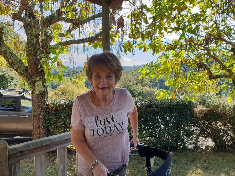 Mum happy in France