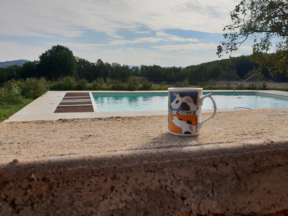 Nice cuppa in the pool