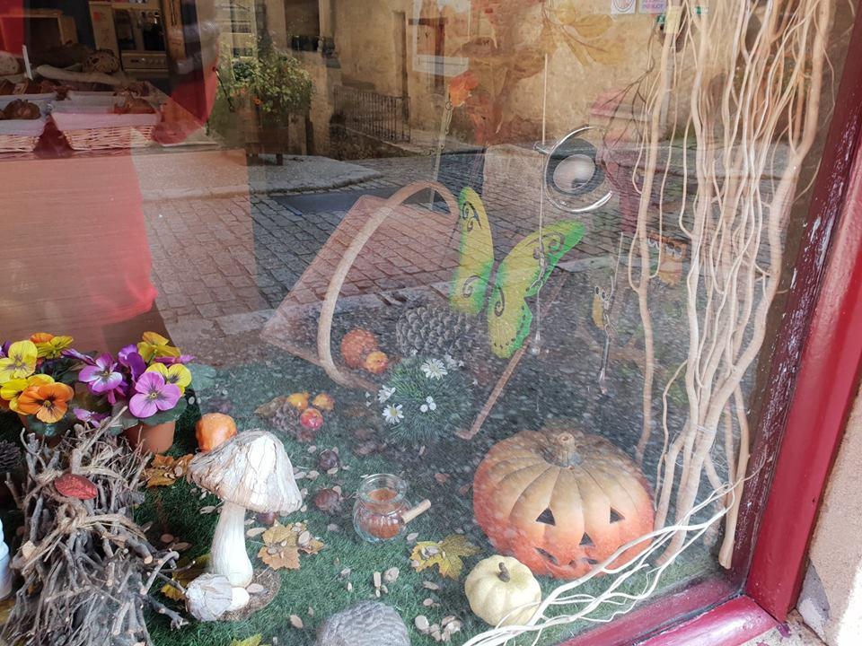 Cute pumpkin display