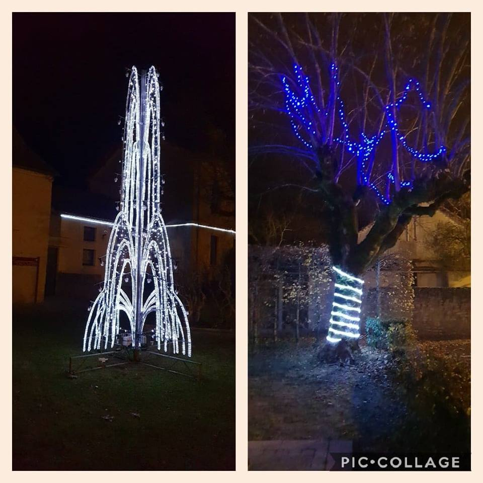 Christmas Rocket and Blue Tree