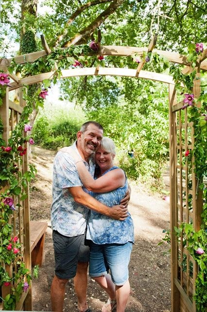 Garden Arch Sharon and Martin