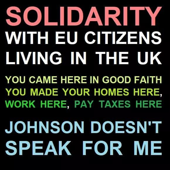 Solidarity with EU citizens