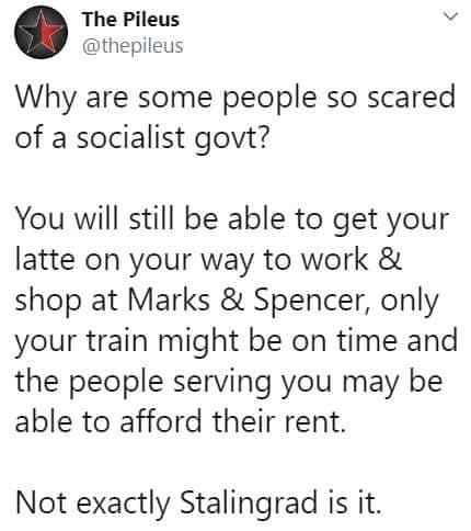 why fear a socialist government
