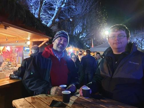 Martin and Ryan at the Vin Chaud