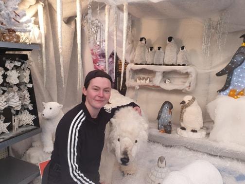 Sian with Polar Bear