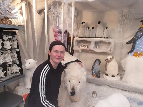 Sian with Polar Bear