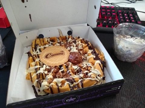 Creams waffle