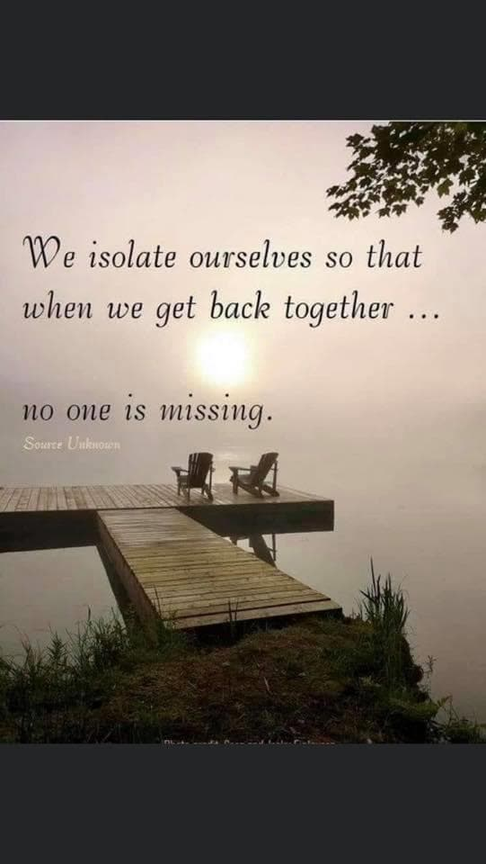 We isolate ourselves